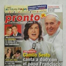 Coleccionismo de Revista Pronto: REVISTA PRONTO DICIEMBRE 2016. Lote 121572742