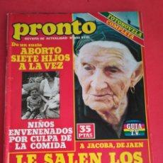 Coleccionismo de Revista Pronto: REVISTA PRONTO 452 5-1-81. Lote 122275271