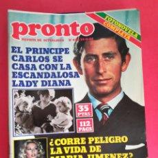 Coleccionismo de Revista Pronto: REVISTA PRONTO 446 24-11-80. Lote 122276391