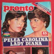 Coleccionismo de Revista Pronto: REVISTA PRONTO 499 30-11-81. Lote 122278960