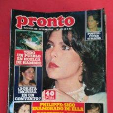 Coleccionismo de Revista Pronto: REVISTA PRONTO 471 18-5-81. Lote 122279359