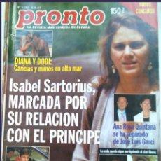 Coleccionismo de Revista Pronto: PRONTO 27 REVISTAS AÑOS 90 DESDE 1273 HASTA 1382. Lote 123096931