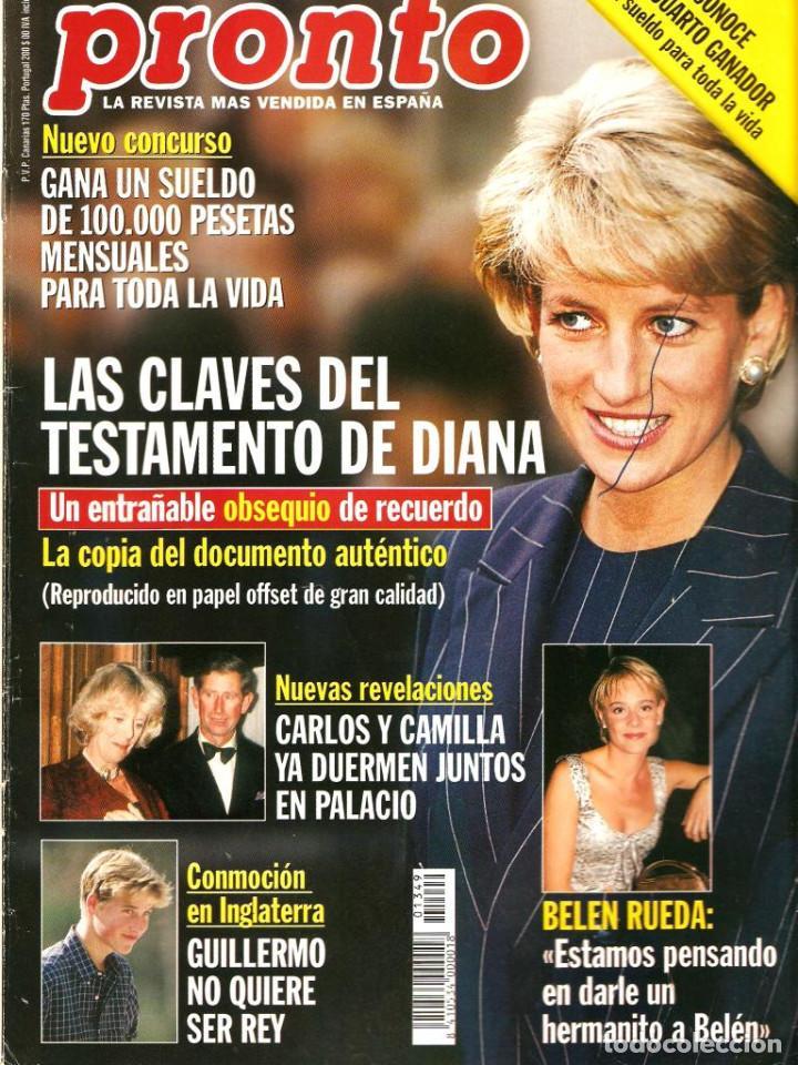 Coleccionismo de Revista Pronto: Pronto 27 revistas años 90 desde 1273 hasta 1382 - Foto 7 - 123096931