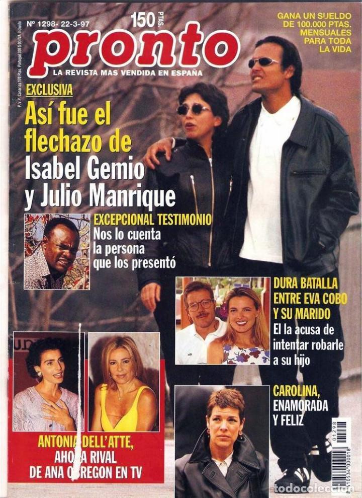 Coleccionismo de Revista Pronto: Pronto 27 revistas años 90 desde 1273 hasta 1382 - Foto 12 - 123096931