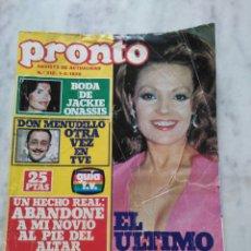 Coleccionismo de Revista Pronto: REVISTA PRONTO.. Lote 123219375