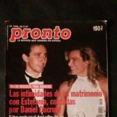 Coleccionismo de Revista Pronto: ESTEFANIA-MICHAEL JACKSON-JOSELITO-MADONNA-MARI TRINI-MISS ESPAÑA-ROCIO JURADO. Lote 124674663