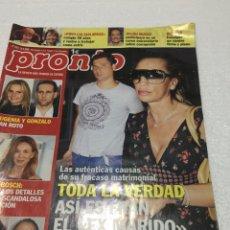 Coleccionismo de Revista Pronto: PRONTO. 16-5-2009. ISABEL PANTOJA - LIDIA BOSCH - BELEN ESTEBAN. Lote 125134575