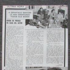 Coleccionismo de Revista Pronto: RECORTE PRONTO 205 1976 ESPARTACO SANTONI, TITA CERVERA. POSTER CENTRAL LORENA, DESNUDO, DESTAPE. Lote 125259427