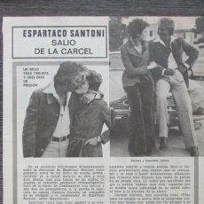 Coleccionismo de Revista Pronto: RECORTE PRONTO 205 1976 ESPARTACO SANTONI, TITA CERVERA. JACK NICHOLSON. Lote 125259775