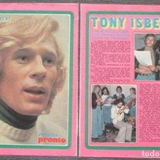 Coleccionismo de Revista Pronto: RECORTE PRONTO 205 1976 TONY ISBERT, GLORIA DEL PARAGUAY. Lote 125260607