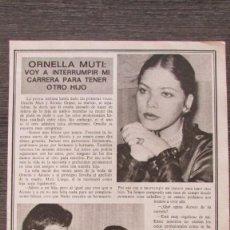 Coleccionismo de Revista Pronto: RECORTE PRONTO 205 1976 ORNELLA MUTI. Lote 125260851