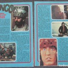 Coleccionismo de Revista Pronto: RECORTE PRONTO 205 1976 RINGO STARR. LOS BEATLES. MUERTE DE VENANCIO MURO. Lote 125260951
