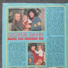Coleccionismo de Revista Pronto: RECORTE PRONTO 205 1976 GEORGIE DANN PADRE POR SEGUNDA VEZ, BRIGITTE BARDOR INTENTO SUICIDARSE. Lote 125261775