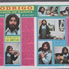 Coleccionismo de Revista Pronto: RECORTE PRONTO 205 1976 RODRIGO, KARINA. Lote 125262123