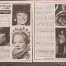 Coleccionismo de Revista Pronto: RECORTE PRONTO 205 1976 GLENDA JACKSON. Lote 125262171