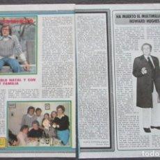 Coleccionismo de Revista Pronto: RECORTE PRONTO 205 1976 PEPE DOMINGO GASTAÑO. HOWARD HUGHES. Lote 125262231