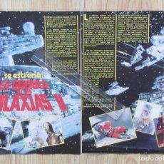Coleccionismo de Revista Pronto: PAGINAS REVISTA PRONTO ESTRENO FILM PELICULA LA GUERRA DE LAS GALAXIAS II STAR WARS . Lote 125873331
