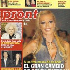 Coleccionismo de Revista Pronto: LOTE 4 REVISTAS PRONTO - BELÉN ESTEBAN - 2008-2009 REV0307. Lote 126526359