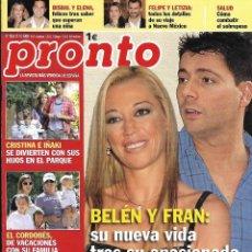 Coleccionismo de Revista Pronto: LOTE 4 REVISTAS PRONTO - BELÉN ESTEBAN 2009 REV0308. Lote 126528455