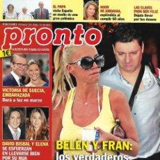 Coleccionismo de Revista Pronto: LOTE 4 REVISTAS PRONTO - BELÉN ESTEBAN 2011 - 2014 REV0311. Lote 126529539