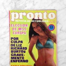 Coleccionismo de Revista Pronto: PRONTO - 1974 SARA MONTIEL, EDDIE BARCLAY, EMILIO JOSE, JUAN BAU, MISS EUROPA, MARÍA LUISA SAN JOSÉ. Lote 114187559