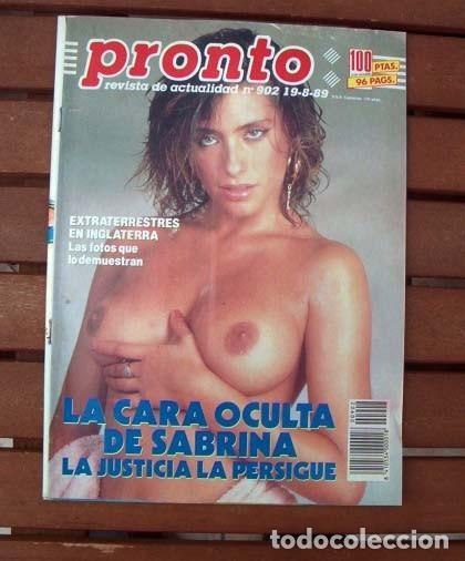 Revista Pronto Sabrina Salerno Desnuda Julio Sold Through