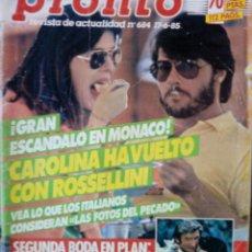 Coleccionismo de Revista Pronto: REVISTA PRONT0 Nº 684 -JUNIO DEL1985. Lote 129372951