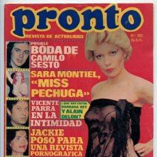 Coleccionismo de Revista Pronto: PRONTO - 1976 - BÁRBARA REY, CAMILO SESTO, SYLVIE VARTAN, ROCÍO DÚRCAL, SARA MONTIEL, ÁGATA LYS. Lote 84186688
