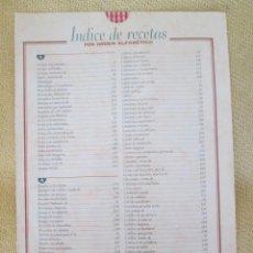 Coleccionismo de Revista Pronto: LA COCINA DE LA ABUELA. REVISTA PRONTO . INDICE. Lote 130614990