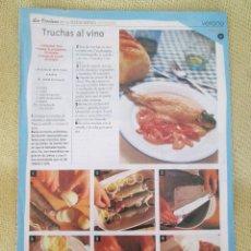 Coleccionismo de Revista Pronto: LA COCINA DE LAS ESTACIONES . FASCICULO 11. Lote 130616602