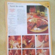 Coleccionismo de Revista Pronto: LA COCINA DE LAS ESTACIONES . OTOÑO FASCICULO 6. Lote 130691624