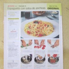 Coleccionismo de Revista Pronto: RECETA ORIGINAL FASCICULO 14. Lote 130865776