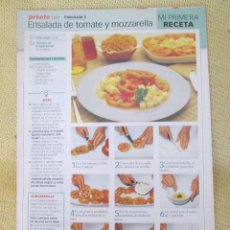 Coleccionismo de Revista Pronto: RECETA ORIGINAL FASCICULO 5. Lote 130865928