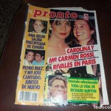Coleccionismo de Revista Pronto: PRONTO NÚMERO 667 AÑO 1985 RICHARD BURTON MARÍA JOSÉ CANTUDO MILIKITO Y ARUCA MARTES TRECE. Lote 130871276