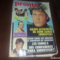 Coleccionismo de Revista Pronto: NÚMERO 561 AÑO 1983 ROCÍO JURADO JOHN JAMES JULIÁN LENON MIGUEL GALLARDO CARMEN SEVILLA . Lote 131042020