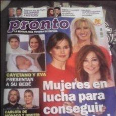 Coleccionismo de Revista Pronto: REVISTA PRONTO MUJERES EN LUCHA REINA LETIZIA,ANA ROSA ,SUSANA GRISO ECT. Lote 131099860