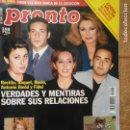 Coleccionismo de Revista Pronto: REVISTA PRONTO ROCIO JURADO CARMEN SEVILLA SANCHO GRACIA CRISTINA SANCHEZ LUIS DEL OLMO CAROLINA . Lote 131681338