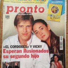 Coleccionismo de Revista Pronto: REVISTA PRONTO SILVIA JATO PELÉ JULIO IGLESIAS ROCIO JURADO HOMENAJE ANTONIO MOLINA .... Lote 131781762