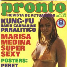 Coleccionismo de Revista Pronto: REVISTA PRONTO Nº 101 MARISA MEDINA, DAVID BOWIE, CONCHA VELASCO, DAVID CASSIDY. Lote 134760015