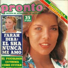 Coleccionismo de Revista Pronto: REVISTA PRONTO Nº 433 CAROLÍNA DE MÓNACO, JULIO IGLESIAS, FARAH DIBA, EVA GLORIA, NEW TROLLS. Lote 134114666