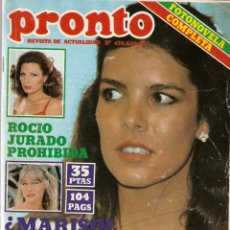 Coleccionismo de Revista Pronto: REVISTA PRONTO Nº 439 CAROLÍNA DE MÓNACO, MARISOL, SARA MONTIEL, ROCÍO JURADO, APLAUSO. Lote 134116394