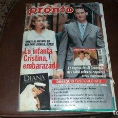 Coleccionismo de Revista Pronto: NÚMERO 1364 AÑO 1998 IÑAKI URDANGARIN TORERO EL CORDOBÉS VICKY MARTÍN BERROCAL ANDRÉS PAJARES. Lote 134158482