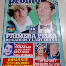 Coleccionismo de Revista Pronto: LADY DIANA.LIZ TAILOR.BURTON.ANGIE DICKINSON.LA POLACA.SYLVIE VARTAN.TEENS.NADIUSKA.PRONTO Nº469.. Lote 134794702