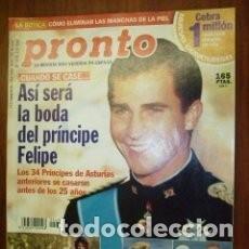 Coleccionismo de Revista Pronto: REVISTA PRONTO 1478 / 2000 / PRINCIPE FELIPE / ANA OBREGON / ESTEFANIA / ROCIO JURADO /NADIUSKA / 39. Lote 135456682