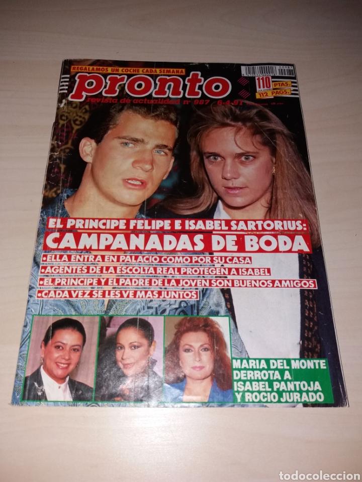 REVISTA PRONTO - AÑO 1991 - ISABEL PANTOJA - MARÍA DEL MONTE - ROCÍO JURADO - A. SÁNCHEZ VICARIO (Papel - Revistas y Periódicos Modernos (a partir de 1.940) - Revista Pronto)