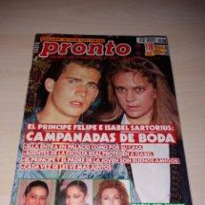 Coleccionismo de Revista Pronto: REVISTA PRONTO - AÑO 1991 - ISABEL PANTOJA - MARÍA DEL MONTE - ROCÍO JURADO - A. SÁNCHEZ VICARIO. Lote 135468901