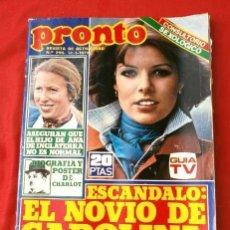 Coleccionismo de Revista Pronto: PRONTO Nº 296 (1978) POSTER Y BIOGRAFIA DE CHARLOT - LUISA LASSO - CAROLINA - CAMILO SESTO - CANNON. Lote 135799810