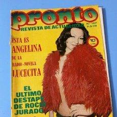 Coleccionismo de Revista Pronto: PRONTO Nº 147 (1975) POSTER: ROCIO JURADO - LOLA FLORES - ANGELINA (LUCECITA) - EMMA COHEN - BIRKIN. Lote 135812826