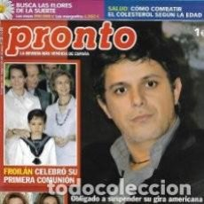 Coleccionismo de Revista Pronto: REVISTA PRONTO 1830 * 2007 * ALEJANDRO SANZ * ROCIO JURADO * TONY LEBLANC * ANA OBREGON * 42. Lote 136259706