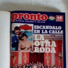 Coleccionismo de Revista Pronto: TOMO ENCUADERNADO CON HOJAS DE LA REVISTA PRONTO DEDICADAS AL MUNDO DE LA PAREJA - MARISOL DIANA..... Lote 136262702